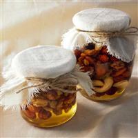 Мед с орехами микс